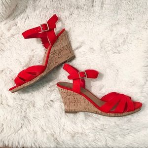 Dolce vita DV8 Paloma cork wedge red/orange